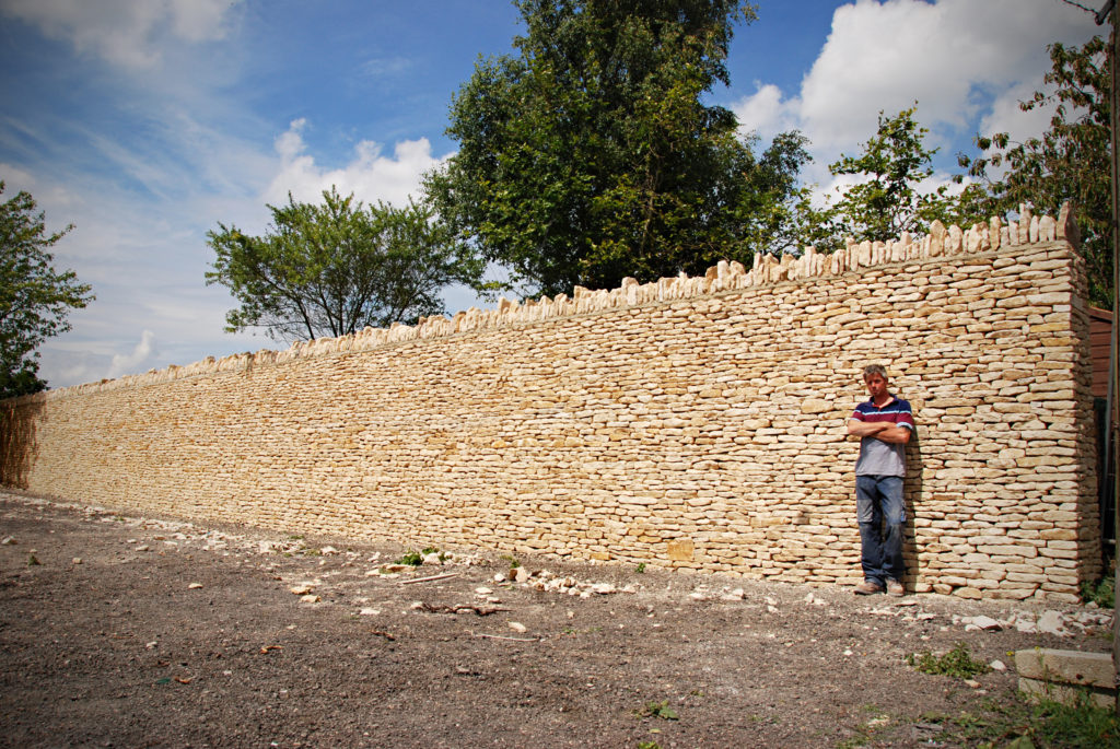 free standing drystone wall